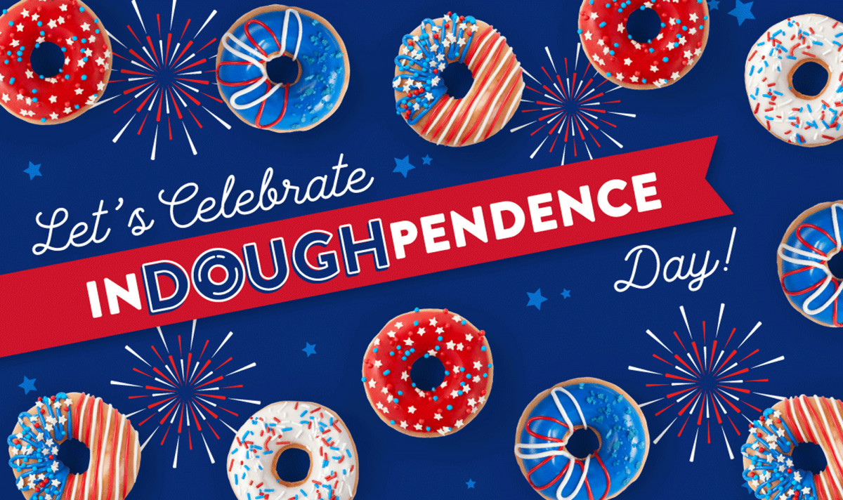 Krisy Kreme Doughnuts Independence Day Tear Sheet by Salt Paper Studio of Charlotte, NC