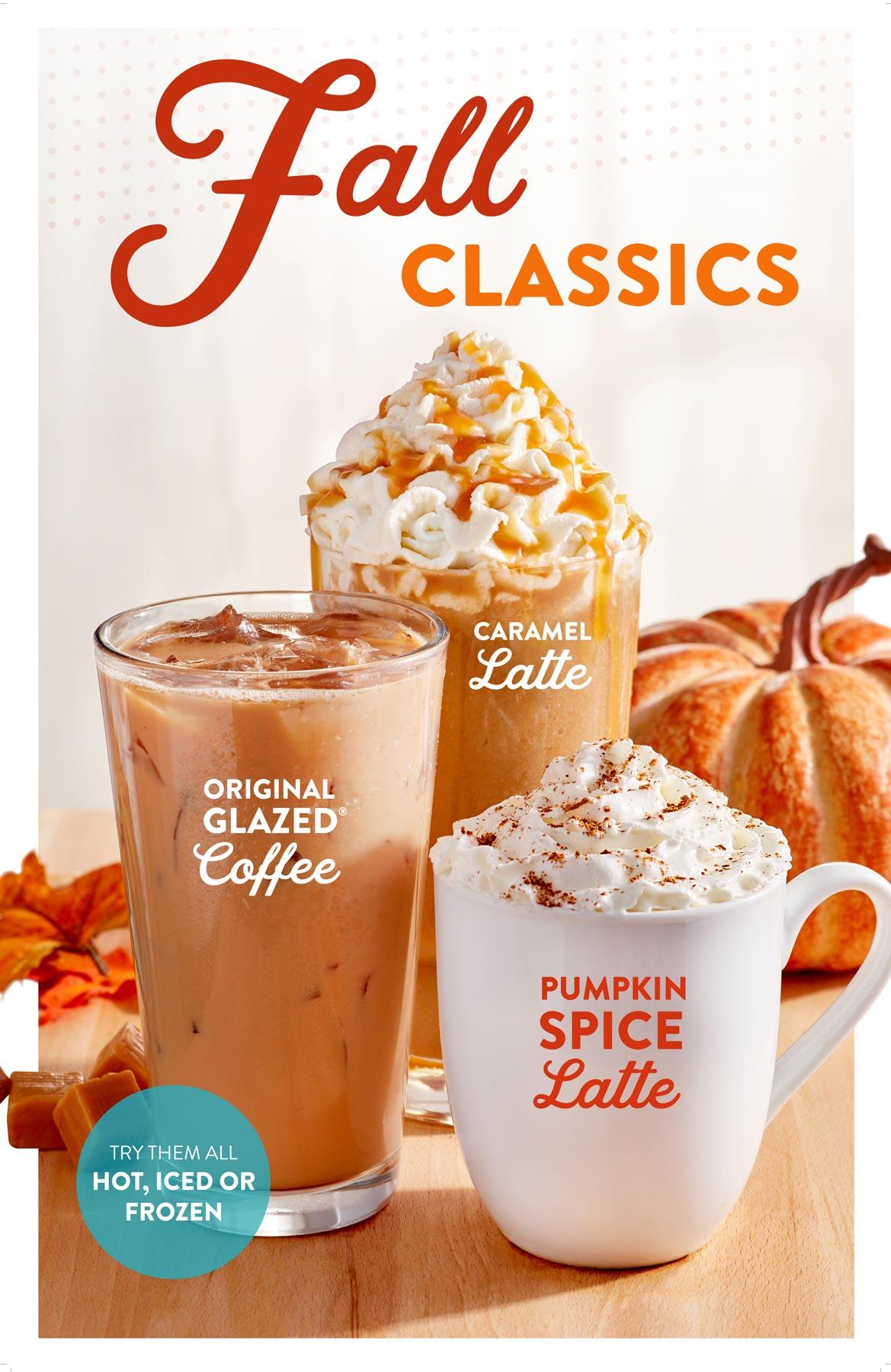 Krispy Kreme Doughnuts Fall Beverage Tear Sheet by Salt Paper Studio of Charlotte, NC