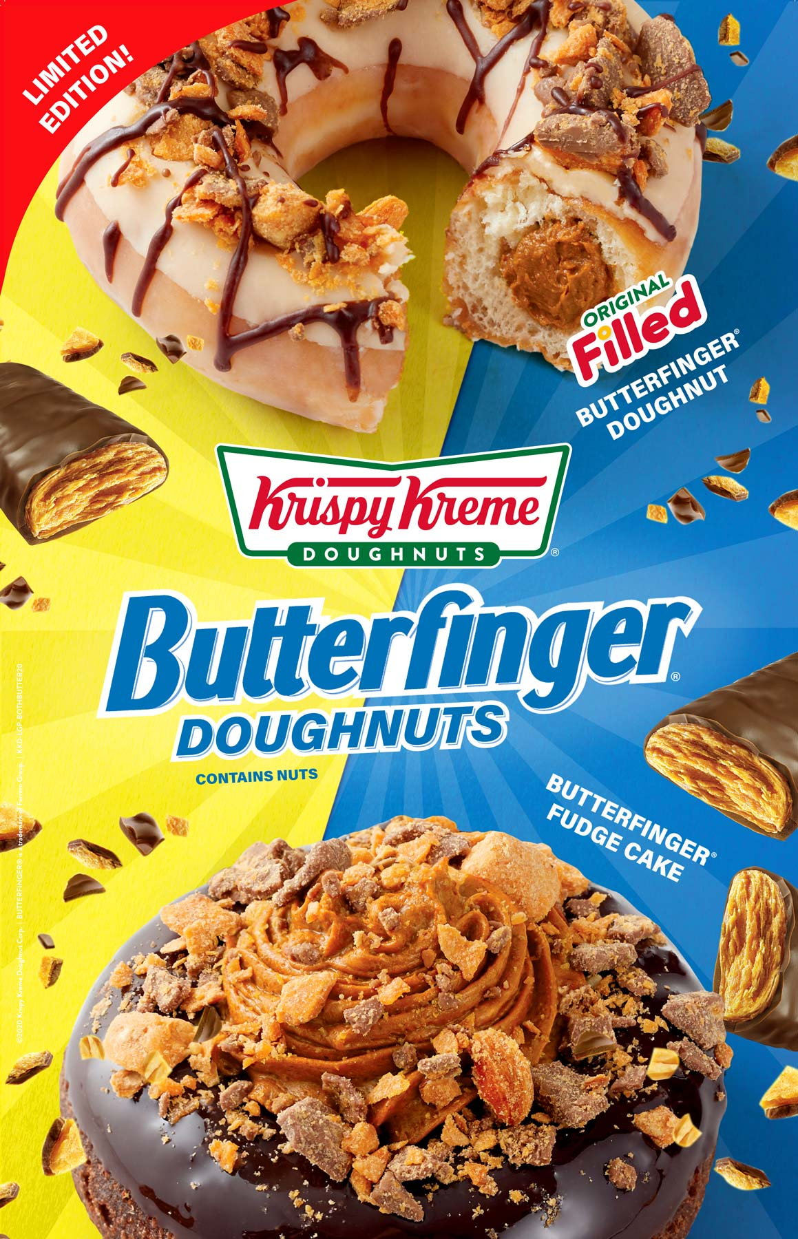 Krispy Kreme Doughnuts Butterfinger Tear Sheet by Salt Paper Studio of Charlotte, NC
