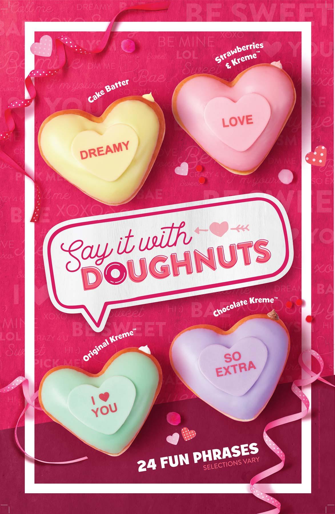 Krispy Kreme Doughnuts Valentines Day Tear Sheet by Salt Paper Studio of Charlotte, NC
