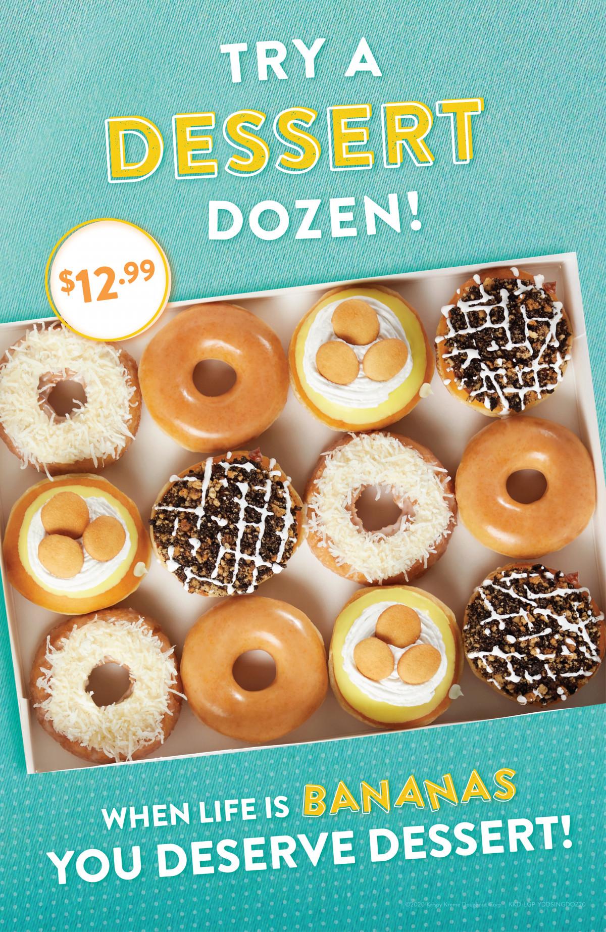 Krispy Kreme Doughnuts Dessert Dozen Tear Sheet by Salt Paper Studio of Charlotte, NC