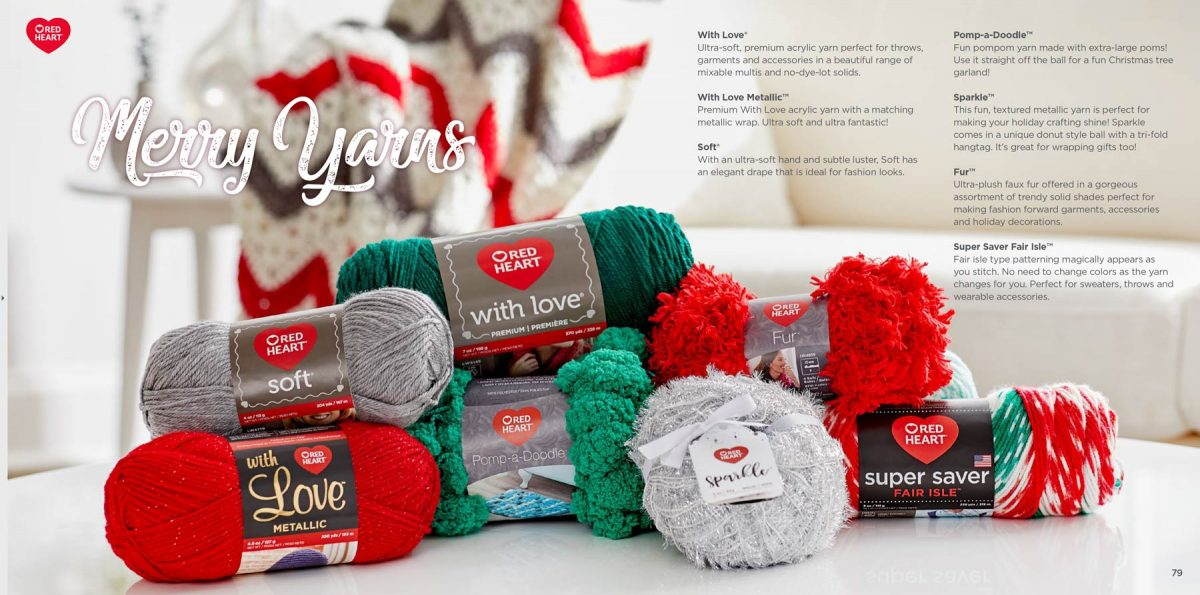 Red Heart Merry Yarns Tear Sheet by Salt Paper Studio of Charlotte, NC