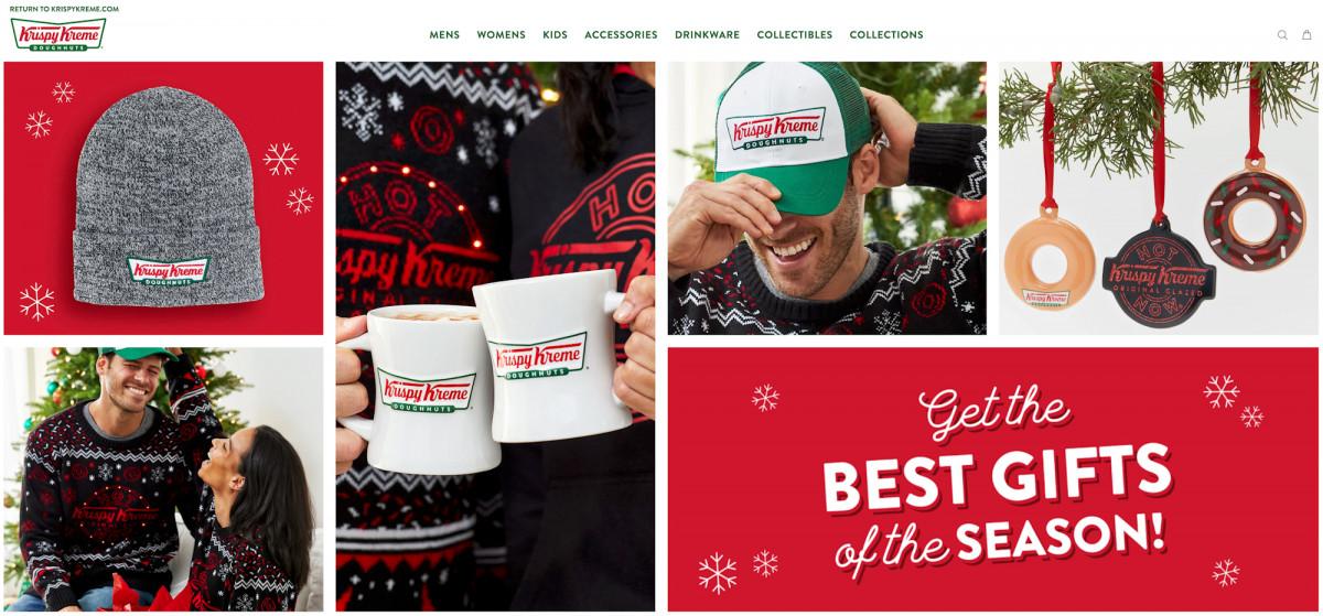 Krispy Kreme Doughnuts holiday gift themed tear sheet by Salt Paper Studio of Charlotte, NC