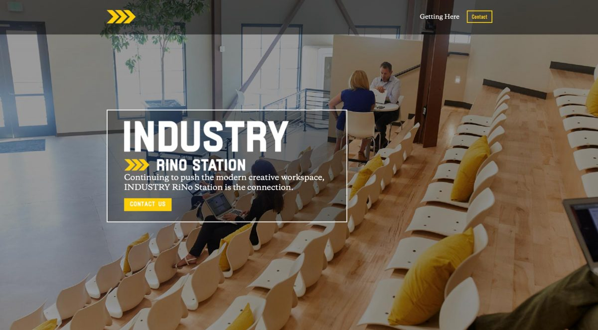 Industry Rino Station digital tear sheet by Salt Paper Studio of Charlotte, NC