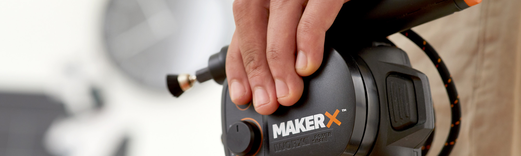 Product photography a WORX hand tool