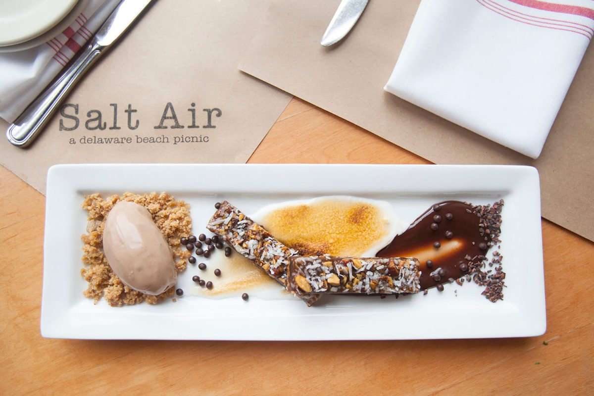 Commercial food photography taken for Salt Air restaurant in Delaware