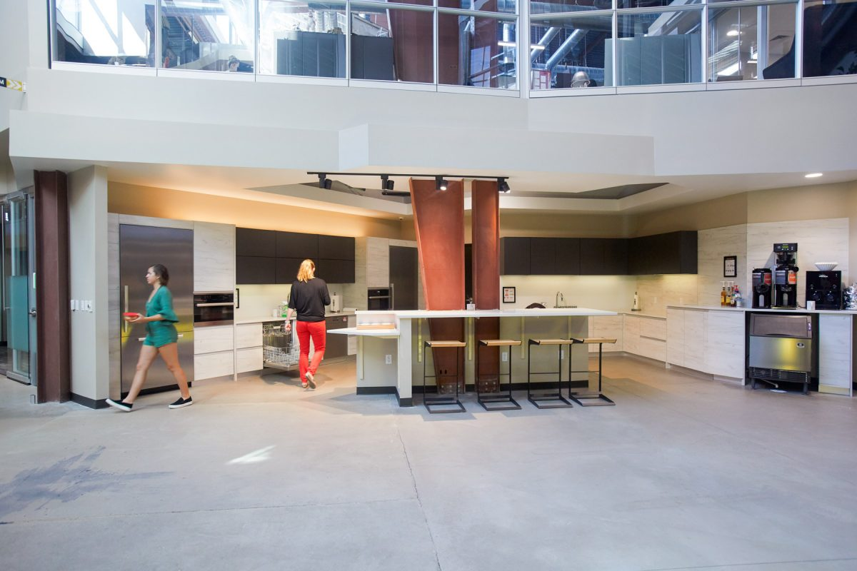 Interior photography of Rino Station common area in Denver, CO